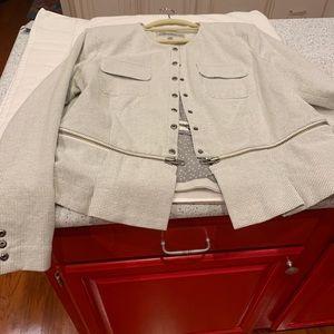 CABI jacket like new, windowpane check